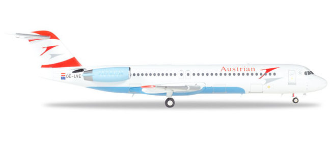 Austrian Airlines - Fokker 100 (Herpa Wings 1:200)