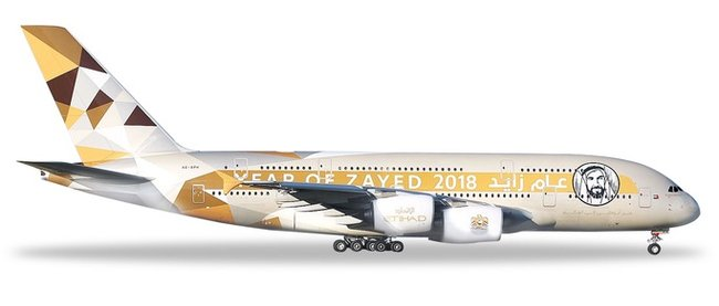 Etihad Airways - Airbus A380-800 (Herpa Wings 1:500)