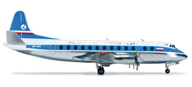 LOT Polish Airlines - Vickers Viscount 800 (Herpa Wings 1:200)